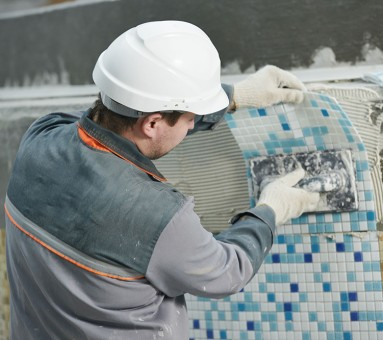 pool construction tile
