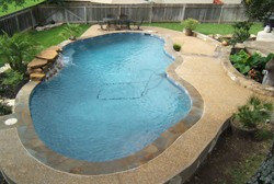 recently completed large pool