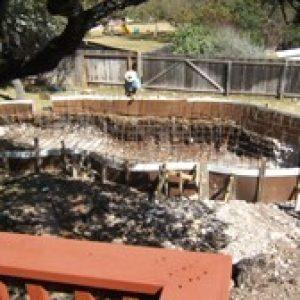 organized pool construction site